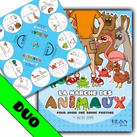 Duo Nappe et livre (Marche des Animaux)